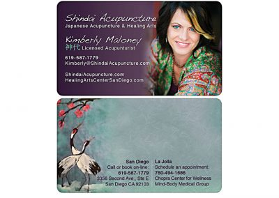 acupuncturist business card