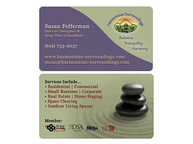 Business card portfolio go west design for Feng shui business cards