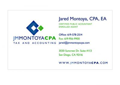 Tax Accountant Business Cards