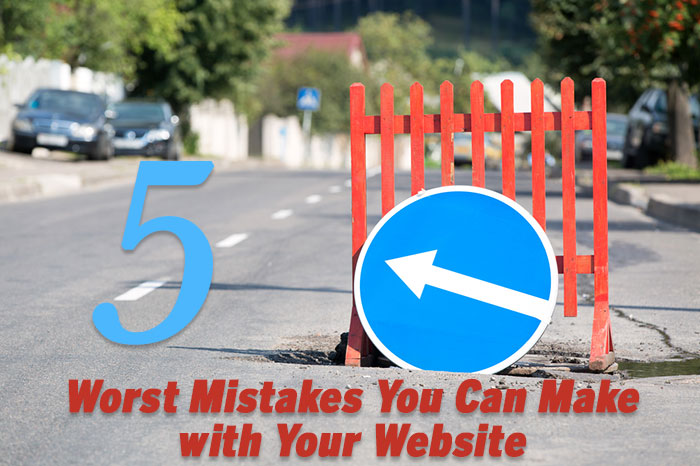 5 worst mistakes you can make with your website go west for Website where you can draw